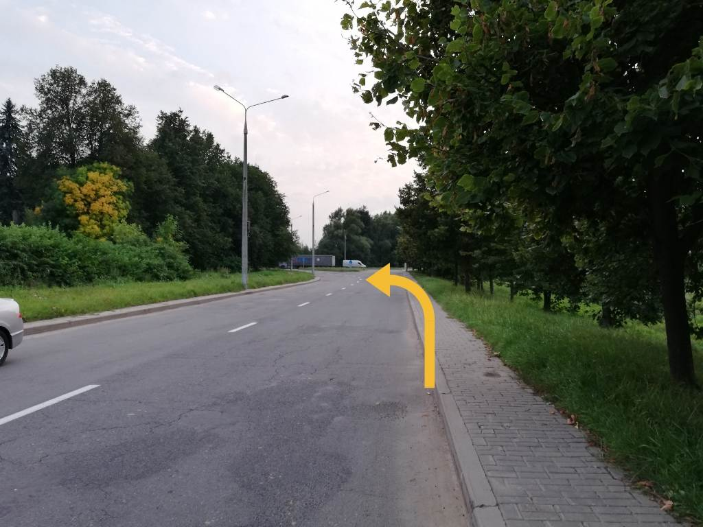Автосервис Rkpp.by - поворот налево возле автобусного кольца